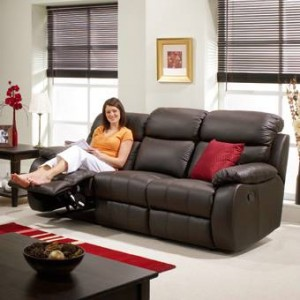 Leonora 3 seater double recliner sofa at BrightHouse