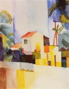 """Bright House"" by August Macke 2"