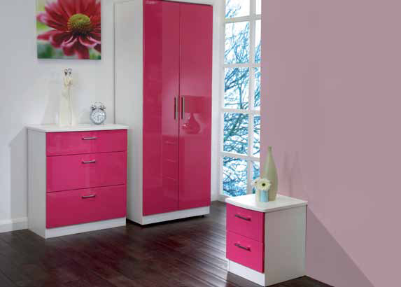 KATIE pink BEDROOM FURNITURE AT BrightHouse on easy credit