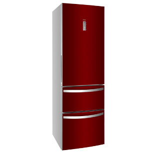 haier red fridge at BrightHouse
