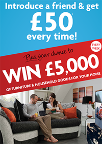 Win £5,000 of Household Goods When You Introduce a Friend to BrightHouse!