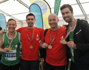 BrightHouse Runners - Andrew Campbell, Graeme Campbell, Dave Poole and Geoff Underwood