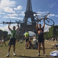 Jack and Paul Complete the London to Paris Cycle Challenge