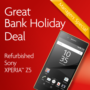 Bank Holiday Deal QR Sony Xperia Z5