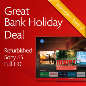 "Bank Holiday Deals Sony 65"" Television"