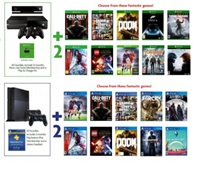 Selected PS4 & Xbox One Games Console Bundle Offer: Choose 2 Extra Games!