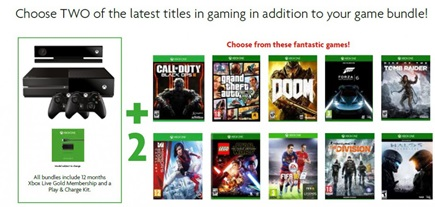 Xbox One Games Console Bundle Games Choice