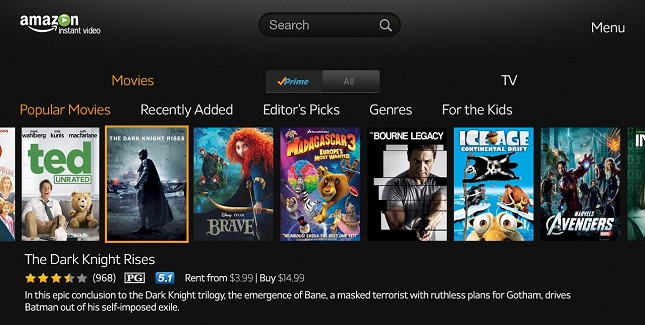 TV subscriptions - Amazon Instant Video