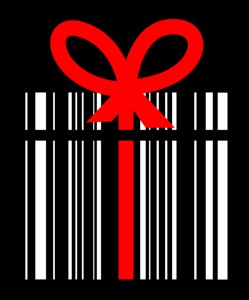 barcode with a bow