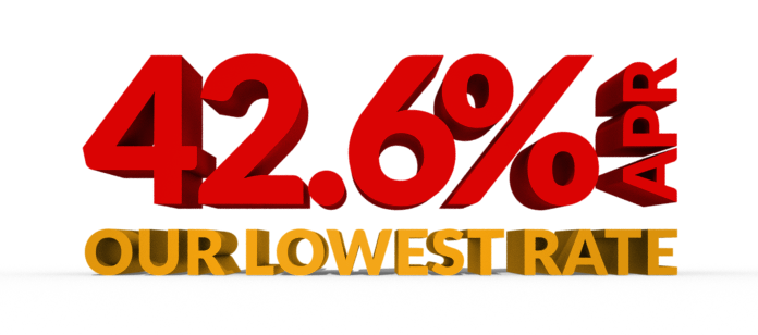 42.6 APR Our Lowest Rate