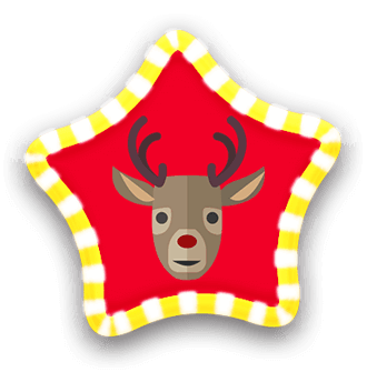 reindeer star draw