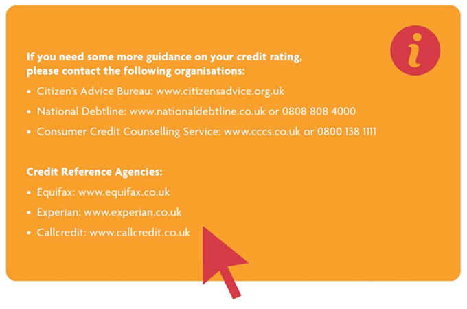 Credit Score Further Guidance